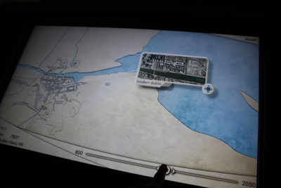 Dublin's Historic timeline in an early, touchscreen implementation.