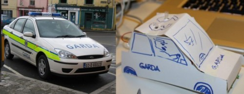 An example of an original Garda car and my greatly improved concept design.